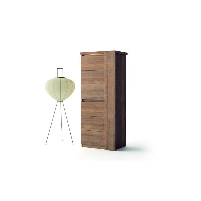 Colonne de salon derby ch ne brun achat vente meuble for Colonne meuble salon