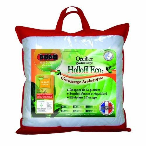Dodo hollofil eco 2 oreiller classique 65 x 65 cm achat vente oreiller cdiscount - Couette dodo hollofil eco 2 ...