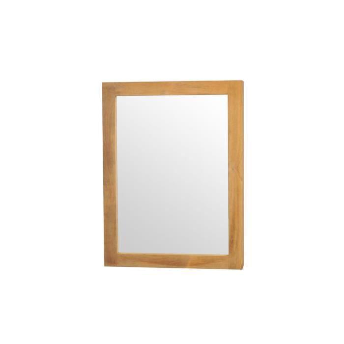Miliboo miroir de salle de bain en teck desig achat vente miroir salle - Miroir salle de bain cdiscount ...