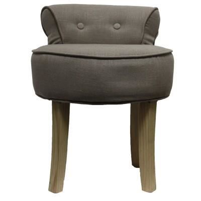 Fauteuil crapaud lin taupe - Fauteuil crapaud 2 places ...