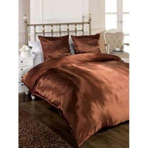 parure de drap chocolat achat vente parure de drap chocolat pas cher cdiscount. Black Bedroom Furniture Sets. Home Design Ideas