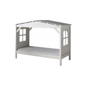 lit cabane blanc achat vente lit cabane blanc pas cher cdiscount. Black Bedroom Furniture Sets. Home Design Ideas
