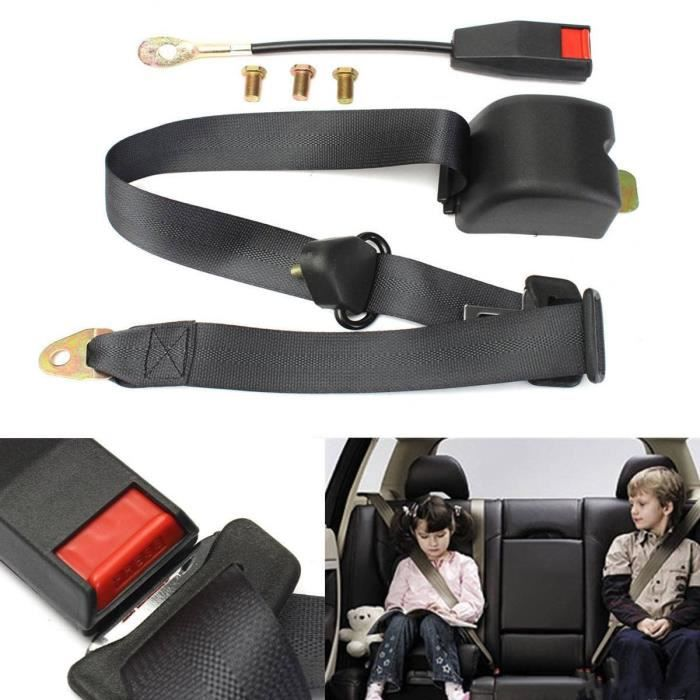 universel 3 points r glable ceinture de s curit du v hicule auto voiture car seat belt boulons. Black Bedroom Furniture Sets. Home Design Ideas