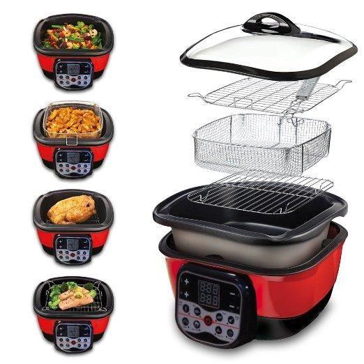 speed chef digital multi cuiseur 8 en 1 rouge noir appareil de cuisson achat vente. Black Bedroom Furniture Sets. Home Design Ideas