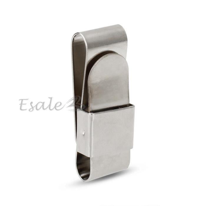 Porte craie inox acier magn tique clip ceinture pr queue for Porte queue billard moderne