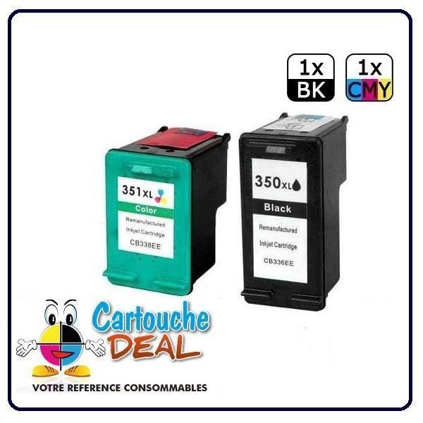 HP350 HP351 XL HP 350XL Couleur : noir Capacité : 34ml HP