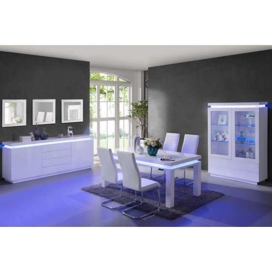 Meuble vitrine a led zara blanc 120x175x40 - Achat / Vente ...