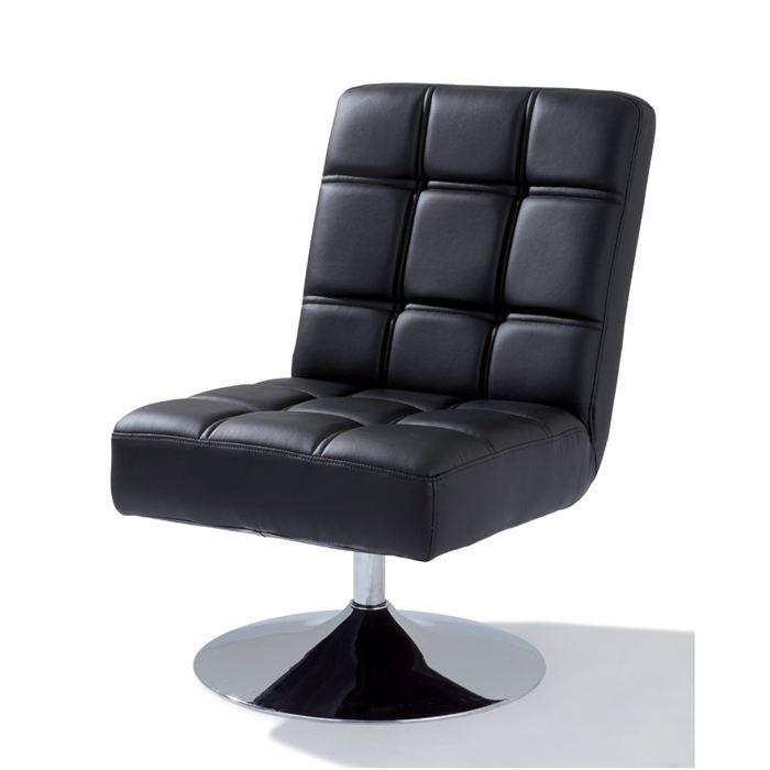 fauteuil rotatif anvers noir achat vente fauteuil. Black Bedroom Furniture Sets. Home Design Ideas