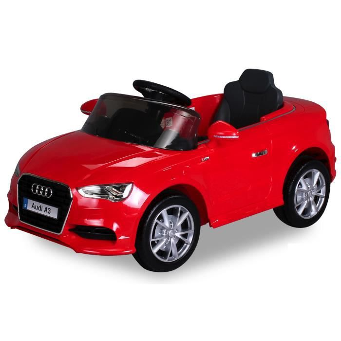voiture lectrique pour enfants audi a3 rouge achat. Black Bedroom Furniture Sets. Home Design Ideas