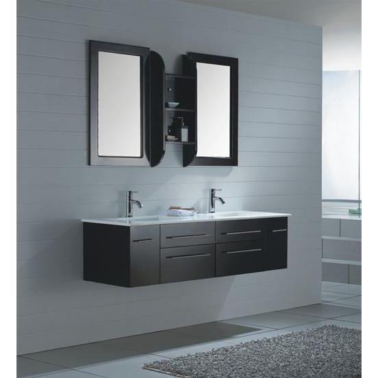 Meuble salle de bain en ch ne couleur wenge 149 achat for Colonne de salle de bain couleur wenge