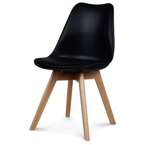 Lot 6 chaises noir design achat vente lot 6 chaises for 6 chaises scandinaves