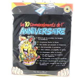 """T-SHIRT T-shirt """"10 commandements"""" Anniversaire"""