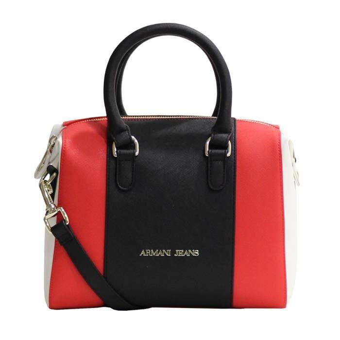 sac main armani jeans c5204 rouge et noir achat vente sac main armani jeans c52 soldes. Black Bedroom Furniture Sets. Home Design Ideas