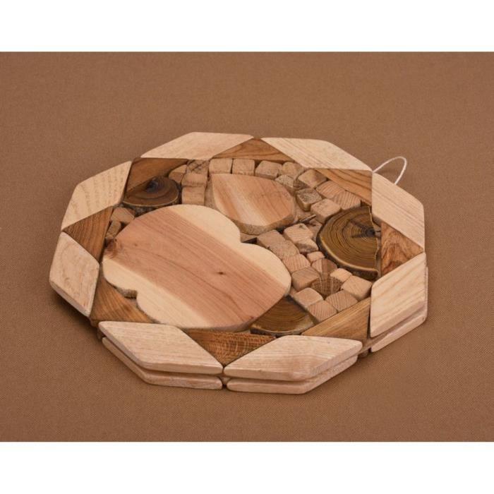 dessous fait main en bois original sous plat artisanal achat vente dessous de plat cdiscount. Black Bedroom Furniture Sets. Home Design Ideas