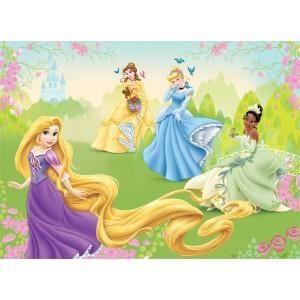 fresque murale disney princesses peint poster g ant achat vente papier peint cdiscount. Black Bedroom Furniture Sets. Home Design Ideas