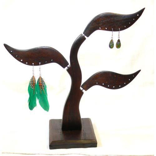Presentoir boucles d 39 oreille bois arbre bijoux a achat - Boite a bijoux boucle d oreille ...