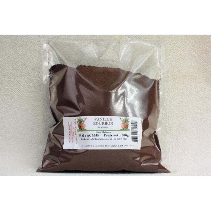 Vanille bourbon en poudre sachet de 500 grammes - Achat