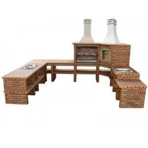 barbecue avec four bois en angle ch133 achat vente barbecue barbecue avec four bois. Black Bedroom Furniture Sets. Home Design Ideas