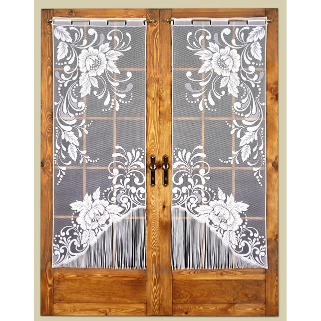paire maille vitrage droit 2 x 60 x 160 cm dessin raffinee achat vente rideau cdiscount. Black Bedroom Furniture Sets. Home Design Ideas