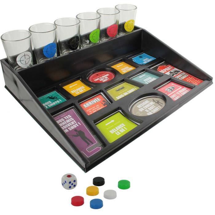 Jeu d alcool shooter a gags 6 verres plateau drinking for Table 6 jeux en 1