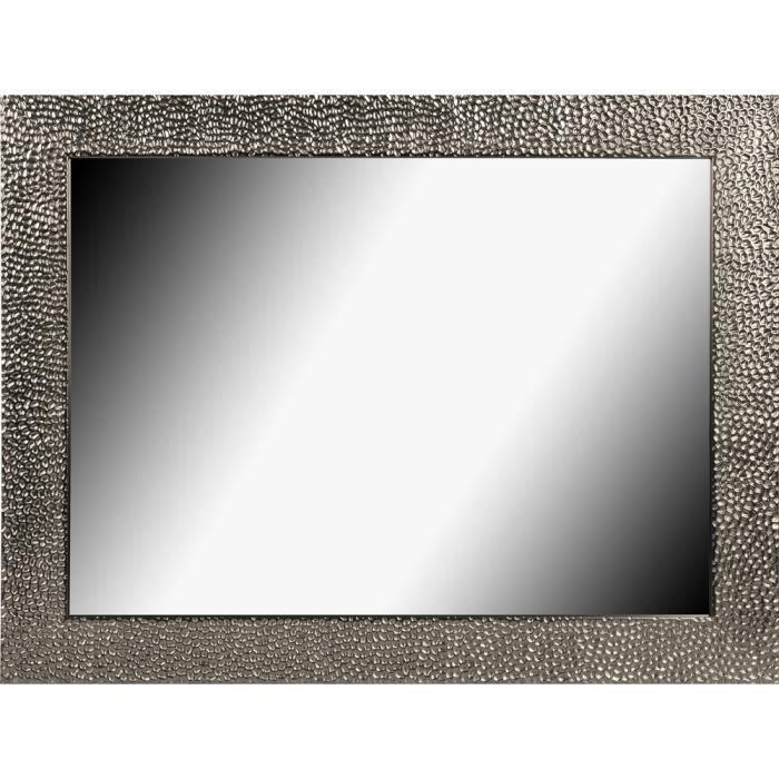 Brio miroir forge m tal 50x70 cm achat vente miroir for Miroir 50 100
