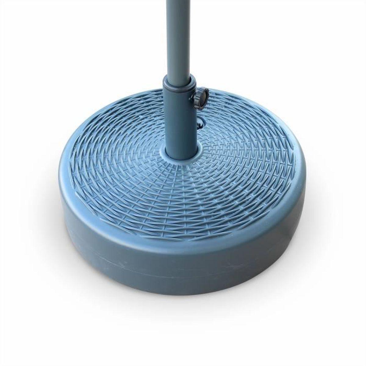 pied de parasol pedibus rond en plastique base remplissable pour parasol m t central aspect. Black Bedroom Furniture Sets. Home Design Ideas