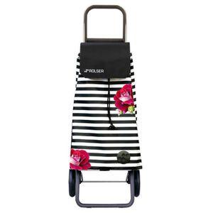 POUSSETTE DE MARCHE Poussette de marché 2 roues avec sac en tissu à ra