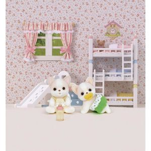 FIGURINE - PERSONNAGE SYLVANIAN FAMILIES 3242 Jumeaux Chihuahua