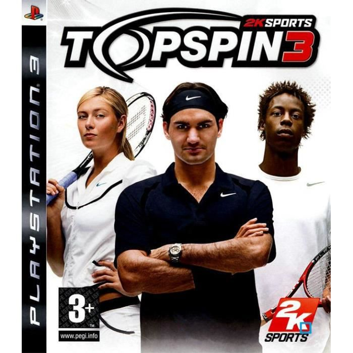 JEUX PS3 TOP SPIN 3 / JEU CONSOLE PS3