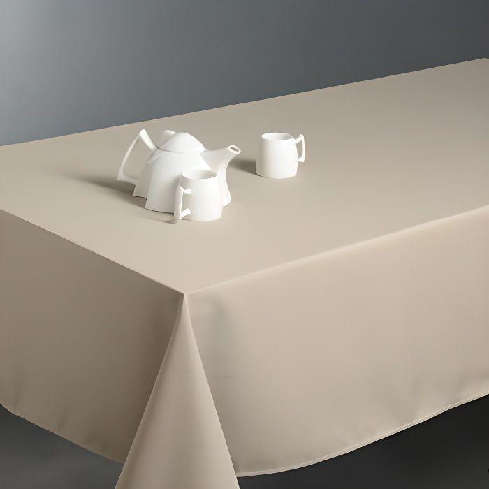 Nappe beige achat vente nappe beige pas cher les soldes sur cdiscount cdiscount - Nappe de table rectangulaire pas cher ...