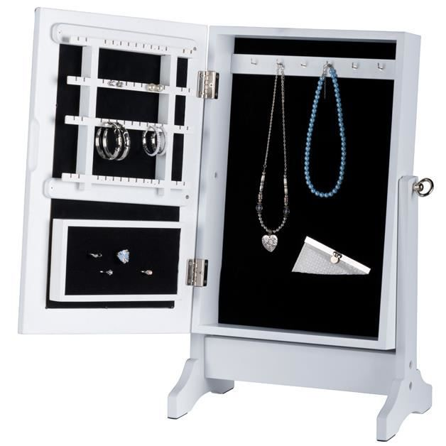 armoire bijoux sur pieds avec miroir 59 cm achat vente pr sentoir bijoux armoire bijoux. Black Bedroom Furniture Sets. Home Design Ideas