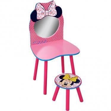 coiffeuse minnie avec miroir et chaise assortis achat vente coiffeuse coiffeuse minnie avec. Black Bedroom Furniture Sets. Home Design Ideas