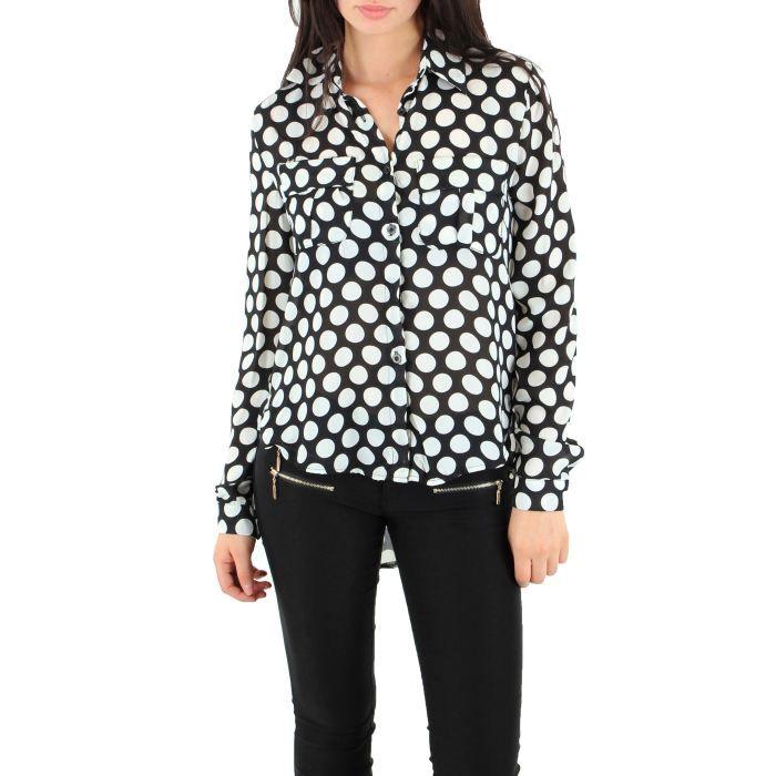 le parfum de la beaut blouse femme noire et blanc. Black Bedroom Furniture Sets. Home Design Ideas