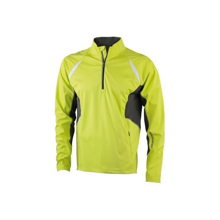 veste technique homme jaune acide carbone achat vente veste de sport cdiscount. Black Bedroom Furniture Sets. Home Design Ideas