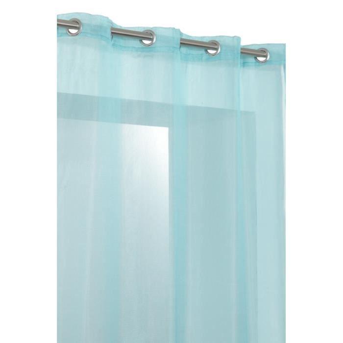 voilage 140x260cm tendance style filaire bleu t achat vente rideau cdiscount. Black Bedroom Furniture Sets. Home Design Ideas