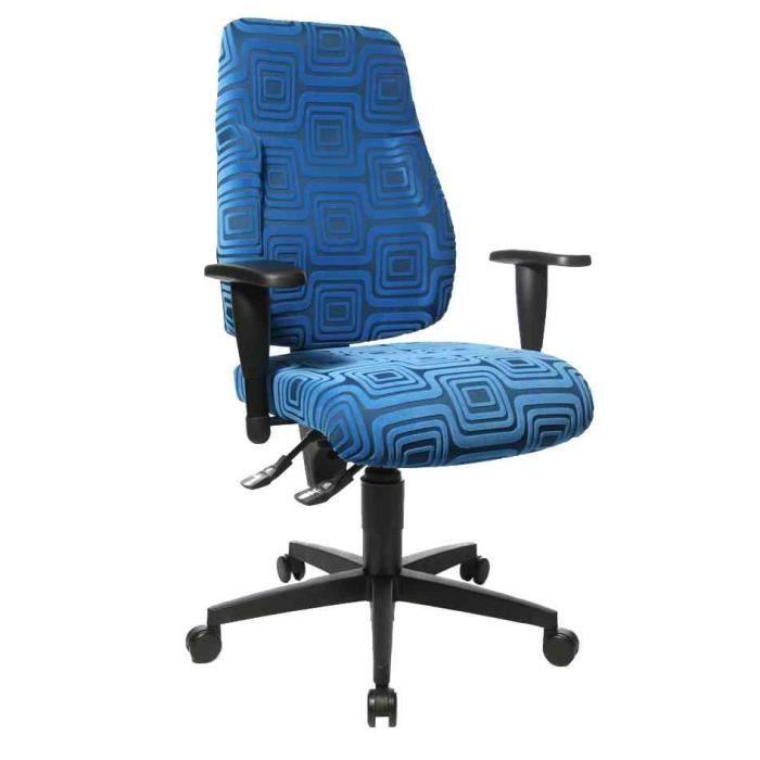 Si ge tournante de bureau lady sitness tissu achat for Chaise de bureau bleu