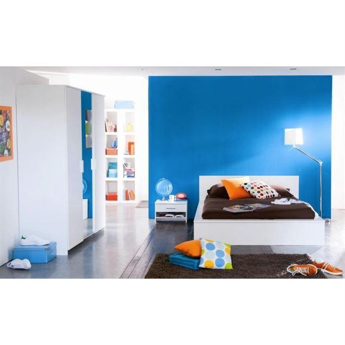 Esther chambre adulte avec lit 140x190 cm achat vente for Achat chambre complete