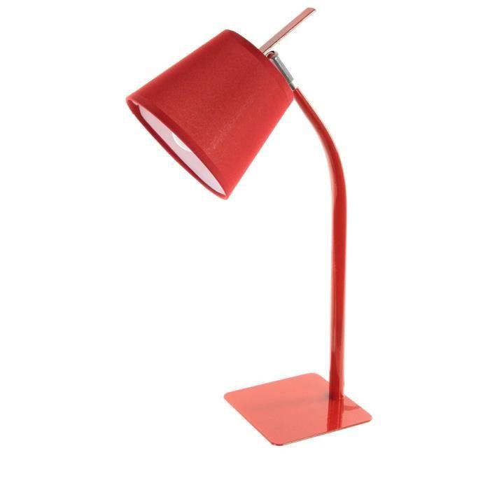 lampe de bureau m tal rouge achat vente lampe de. Black Bedroom Furniture Sets. Home Design Ideas