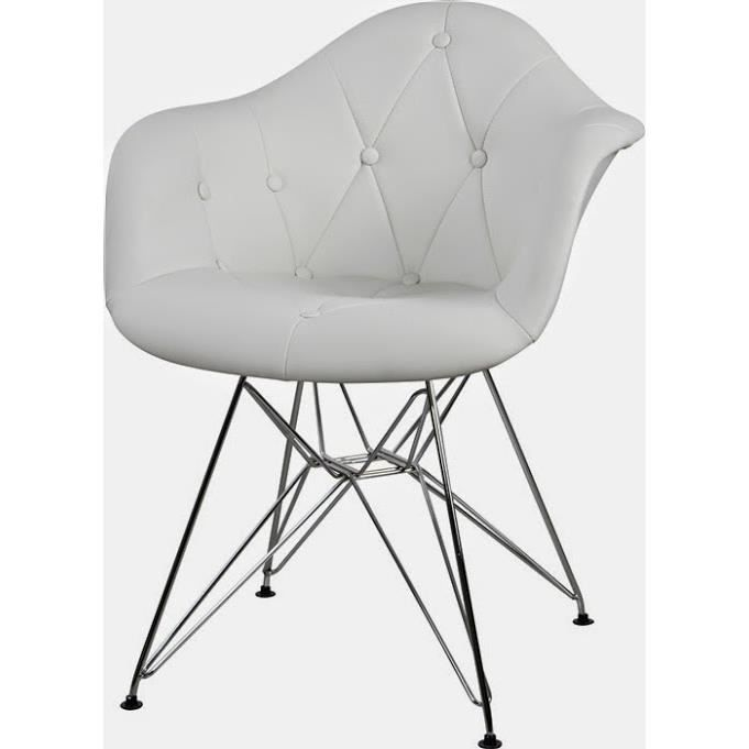 Fauteuil Cuir Blanc Design Intérieur Déco - Fauteuil cuir blanc design