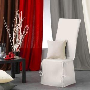 Housse de chaise nouettes panama couleur achat for Housse de chaise beige