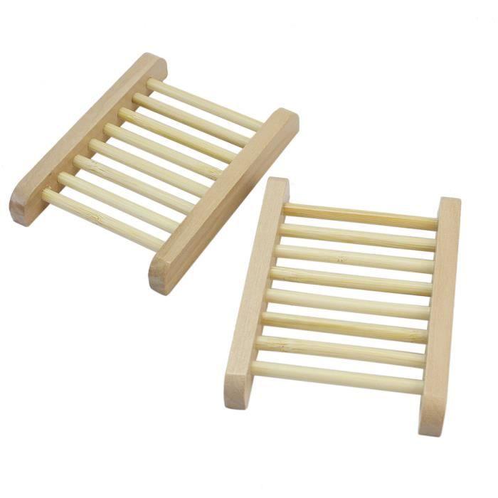 2x porte savon en bois stockage support bo te conteneur - Porte savon salle de bain ...