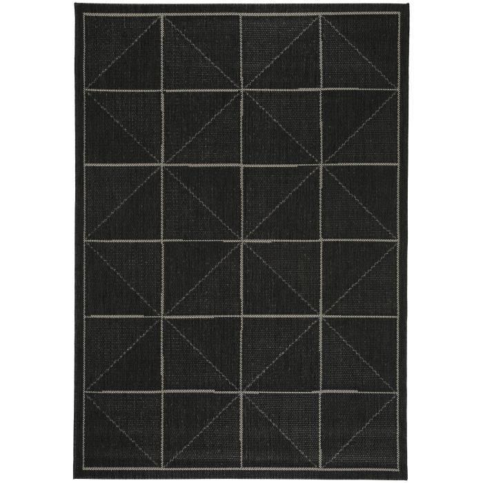 benuta tapis d 39 39 ext rieur int rieur patio noir 120x170 cm 39 achat vente tapis cdiscount. Black Bedroom Furniture Sets. Home Design Ideas