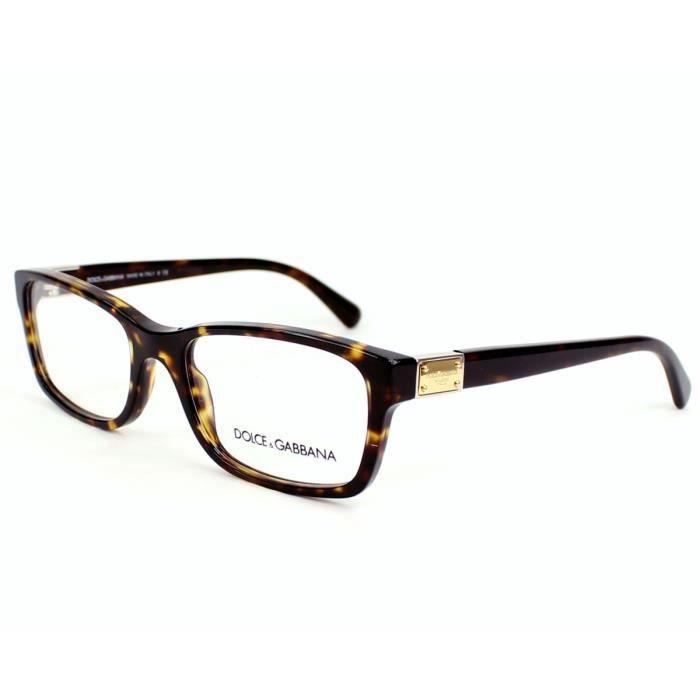 lunettes de vue dolce gabbana dg3170 502 havane or or achat vente lunettes de vue. Black Bedroom Furniture Sets. Home Design Ideas