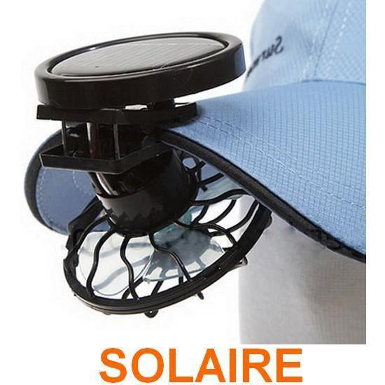 mini ventilateur solaire clips chapeau casquette achat vente casquette 6922604069426 cdiscount. Black Bedroom Furniture Sets. Home Design Ideas