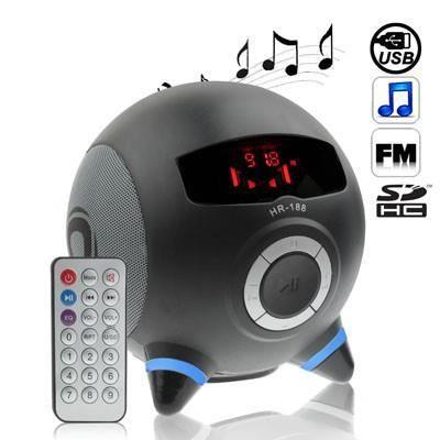 radio lecteur enceinte mp3 sd usb style alien noir lecteur mp3 prix pas cher cdiscount. Black Bedroom Furniture Sets. Home Design Ideas