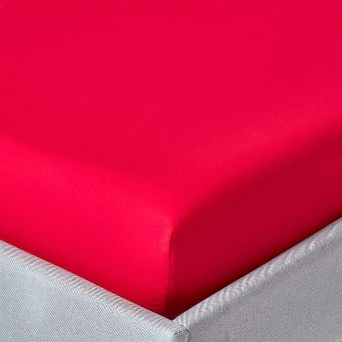 Drap housse uni 90 x 190 cm 100 coton gyptien 200 fils for Drap housse coton egyptien