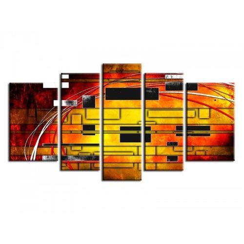 Tableau contemporain fantaisie 5p achat vente tableau toile cdiscount - Achat tableau contemporain ...