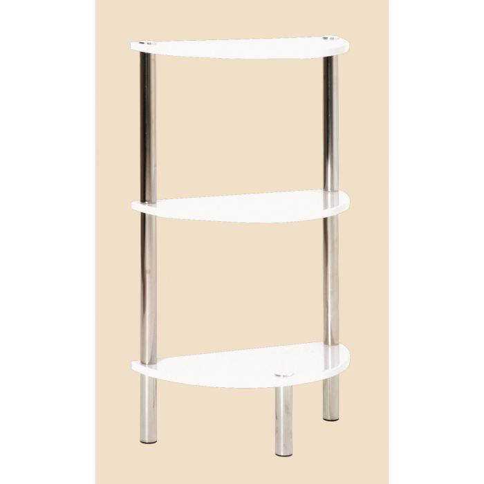 etag re en demi cercle 3 rayons erden chrom blanc achat. Black Bedroom Furniture Sets. Home Design Ideas