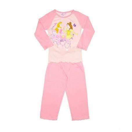 princesses disney pyjama fille en coton t 3 ans rose achat vente pyjama chemise de nuit. Black Bedroom Furniture Sets. Home Design Ideas