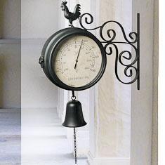 Horloge de gare double face achat vente horloge cdiscount - Pendule de gare double face ...
